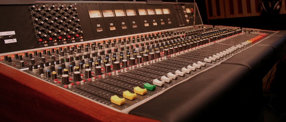 The Studer console used for live broadcasting and recording